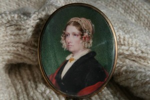 A historic hand painted portrait of Major Patons Mother dating back 200 years.